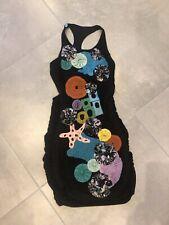 TSUMORI CHISATO Applique Open Back Dress S UK 8 10