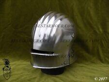 18GA SCA LARP German Sallet Helmet Medieval Costume Armor Helmet Replica Q85
