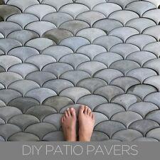 Silicone Mold Patio Pavement Custom Design Concrete Stepping Stone