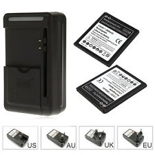 2x 2800mAh EB-BG530BBC Battery + Charger For SamSung Galaxy Grand Prime G5308W