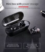 Waterproof TWS Bluetooth 5.0 Earbud Headphones Wireless Headset Noise Cancelling