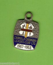 1967-1968 CRONULLA CARINGBAH  RUGBY  LEAGUE  CLUB  MEMBER  BADGE #4058
