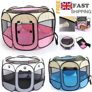 Large Pet Play Pen Puppy Dog Cat Cage Durable Fabric Foldable Travel Pop up Tent