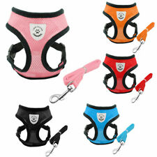 Soft Mesh Dog Harness Fabric Pet Adjustable Waterproof with Lead Breathable Vest