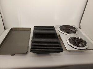 3X GE Cook Top Burner Module Cartridges Grill Griddle Coil 2 Burner Range Stove