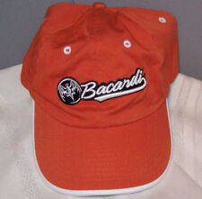 BACARDI and the BAT LOGO #62 Embroidered Burnt Orange Cotton Ball Cap Hat
