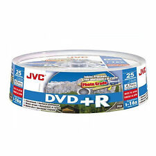 25 JVC DVD+R Stampabile A Getto D'inchiostro 4.7 GB (16x) 120min (25 SPINDLE) vd-r47hp10