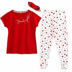Avon Goodnight My Sweetheart PJ's/Pyjamas and Eye Mask Set Size 16-18 New (M)