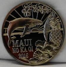 Hawaii Maui Trade Dollar Humpback Whale Pineapple 2016 Coin Uncirculated