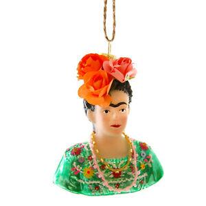 Cody Foster Frida Kahlo Bust Mexican Artist Feminist Christmas Tree Ornament