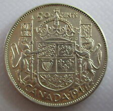 1947 CANADA 50¢ FIFTY CENT HALF DOLLAR CURVED 7 COIN