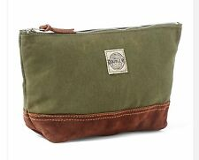 RRL Ralph Lauren 1930s Inspired  OLIVE CANVAS SUEDE SPORTING POUCH TRAVEL BAG