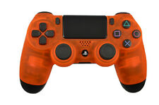 Custom Soft Touch Clear Orange Dualshock Playstation PS4 Wireless Controller