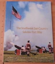 Southwest Sun Country Salutes Fort Bliss Texas 1968 Guide Book