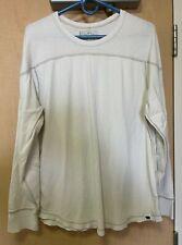 Ralph Lauren Men's Large beige long sleeved rugby shirt