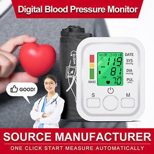 Automatic Upper Arm Blood Pressure Monitor Digital BP Cuff Machine Pulse Meter