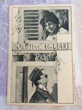 Arte Sarda Cartolina Felice Melis Marini 1899 Saluti da Cagliari Dessi Sardegna
