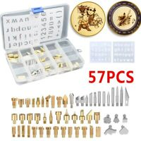 57Pcs/Set Soldering Iron Set Wood Burning Tool Engraver Set Pen Kit Extra Tips