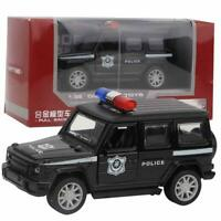 1/32 Police Diecast Alloy Car Model With Pull Back Light Sound Car Kids Toy Gift