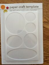 Paper Craft Template 4x6 Circles Ovals