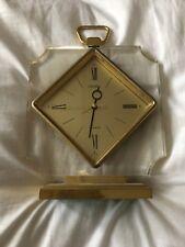 Seiko Quartz Vintage Carriage Clock QEJ145G Brass Plated Case With Alarm