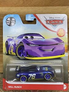 DISNEY PIXAR CARS 2021 METAL WILL RUSCH #76 New !!!!   First Time on Cars