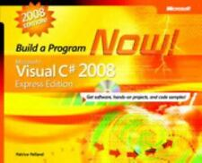 Build A Program Now, Microsoft Visual C# 2008 Express Edition, with Disc NEW