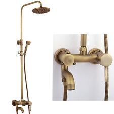 Antike Messing Regen Bad Dusch-Set Wandhalter Wasserhahn Wasserhahn Mischer