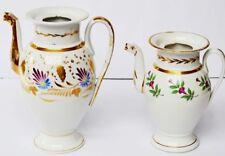 2 Porzellan Kaffeekannen Biedermeier um 1830 handbemalt Blumen Höhe 19cm + 24cm