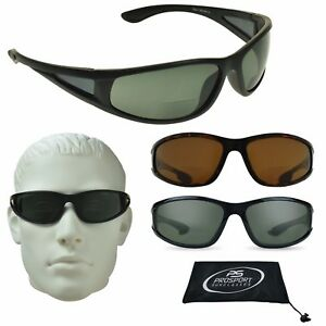 Polarized Bifocal Sunglasses Side Windows Fishing Driving Sports Anti Glare Wrap