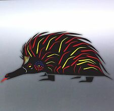 Echidna Aboriginal art Vinyl cut Car boat Sticker aussie made & design 210x95 mm
