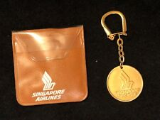 Vintage SIA Singapore Airlines Gold Coin Keychain & Case
