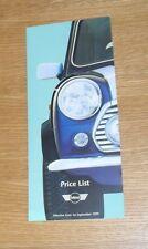 Mini 1.3i Mini 1.3i Cooper & Mini 40 LE Price List 1999