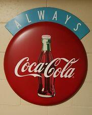 "Always Coca Cola Button Sign  27"" 1950's vintage look store deli soda fountain"