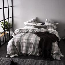 Home Republic Aston Check Black & White King Quilt Cover Set BNIB  $269.99