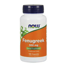 Now Foods Fenugreek 500mg Traditional Herb for healthy lifestyle, 100 Capsules