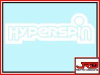 Hyperspin Vinyl Sticker in White