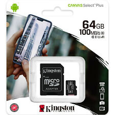 Kingston 64GB Micro SD SDXC MicroSD 64 G 64 GB Canvas Select Plus Memory Card