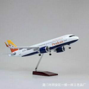 1/80 Bhutan Airlines A320neo Passanger Airplane Plane Model 47cm Display Toy