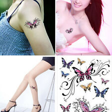Colorful Butterfly Flash Tattoo Removable Waterproof Stickers Body Art Tatoo