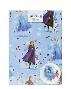 Official DISNEY FROZEN II Gift Wrap Sheet +Tag Birthday Christmas Wrapping Paper