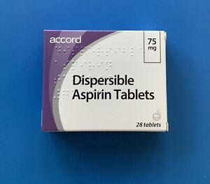 Low Dose - Dispersible Aspirin 75mg 28 Tablets Exp 10/2022