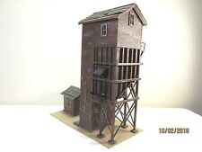 HO Scale Custom Built Weathered Wood Coaling Tower Layout Ready