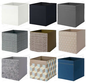 IKEA Drona Storage Box Canvas Shelf Folding Organiser Kallax Insert Toys Chest