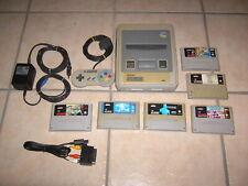 Alter Nintendo SNES mit  Drücker, 6 Spiele, alle Kabel usw. lesen