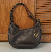 The SAK Brown Leather PURSE Handbag Satchel BAG Pocketbook