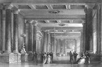 CHATEAU PALACE FONTAINEBLEAU SALON LOUIS PHILIPPE  ~ 1865 Art Print Engraving