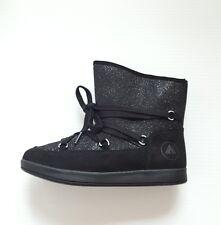 Airwalk Pixie Glitter Girl's Boot Black Youth Size 2