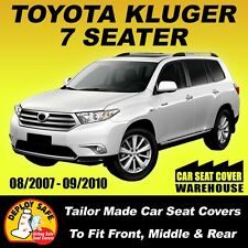 Car Seat Covers for Toyota Kluger 7 Seater, 3 Rows 08/2007-09/2010 Airbag Safe!