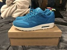 9cb17e0a847 NIKE AIR MAX 1 308866 444 MEN S SHOE DYNAMIC BLUE RIPSTOP PACK RARE 11